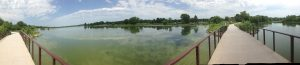 Panoramic view of the Holmes Lake